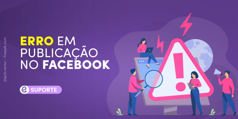 Erro de publicação no Facebook
