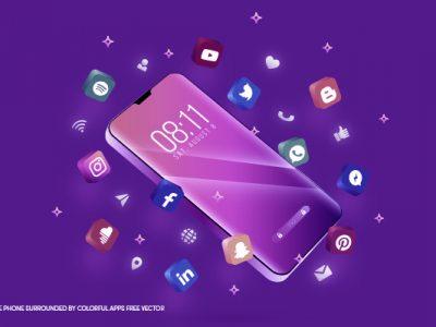 celular com redes sociais