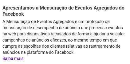 Facebook apresenta a Mensuração de Eventos Agregados