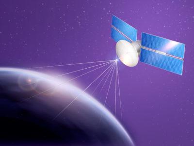 conexão por satélite