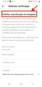 instagram verificado
